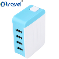 5V 4.8A US / UK/ EU/AU Plug 4 Ports USB Wall Mounted Mobile Travel Chargers adapter