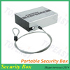 Portable Car Safe with Locking Security Cable and a Key Lock