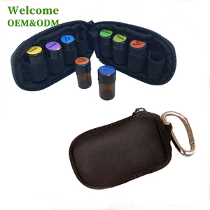 New custom packaging wholesale soft essential oil carrying case for 5ml 10ml bottle