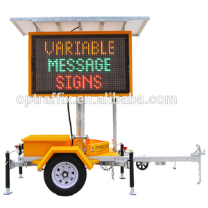 OPTRAFFIC Wholesale New Solar Road Sign Electronic Traffic Message Board Outdoor Mobile Led Screen Advertising Board VMS Trailer