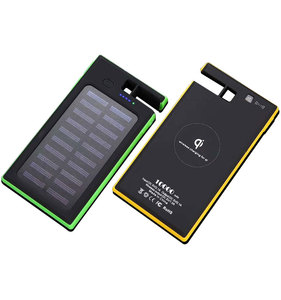 New 3 in 1 Solar/Wireless/USB Charging Qi Certified Solar Charger External Battery Power Bank 10000mAh KD-239