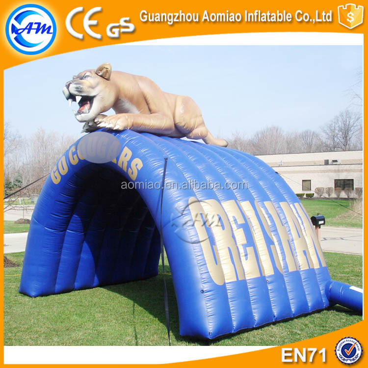 Hot sale inflatable helmet inflatable tunnels for kids sport game