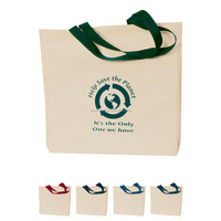 Custom printed fruit canvas bag promotional cotton shopping bag