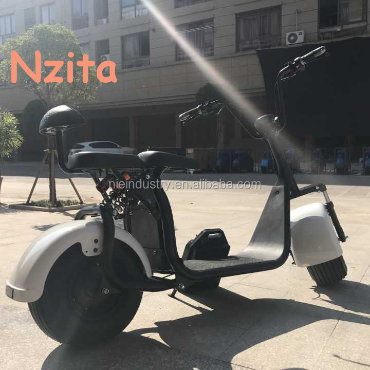 Nzita Cool 1000w motor 80km the most fashionable citycoco 2 wheel electric scooter, adult electric motorcycle