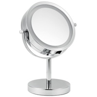 Hot sale double sides LED lights mirror with 10x magnifying makeup mirror