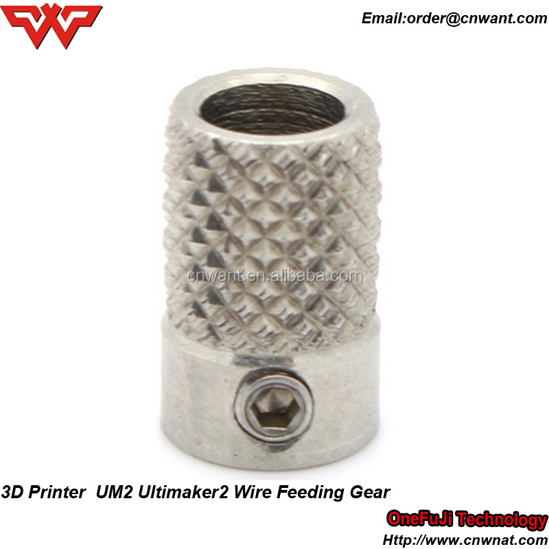 For Ultimaker 2 UM2 Feeder Knurled Wheel Extruder Drive Gear stainless steel For 3D printer