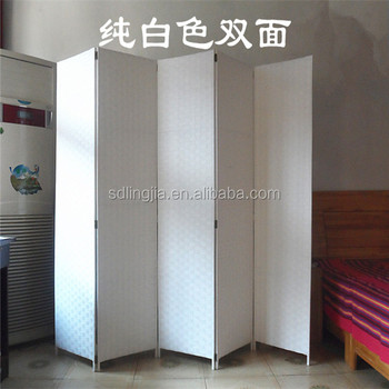 white paper folding indoor portable hanging room divider partition