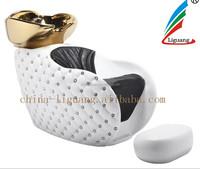 2015 High quality diamond white design shampoo chair/Beautiful Hair salon equipment/luxery shampoo beauty equippment