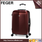 Feger gros ABS PC chariot voyage bagages avec rotatif roues