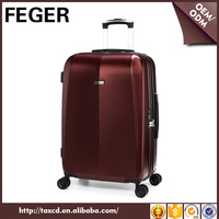 FEGER Wholesale ABS PC trolley travel luggage with rotary wheels