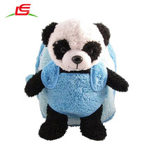 Roues amovibles Roulement Bleu En Peluche <span class=keywords><strong>Sac</strong></span> <span class=keywords><strong>À</strong></span> <span class=keywords><strong>Dos</strong></span> Panda <span class=keywords><strong>Bagages</strong></span>