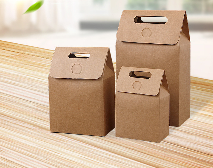 Wholesale custom  kraft paper lunch food pizza  gift box carton