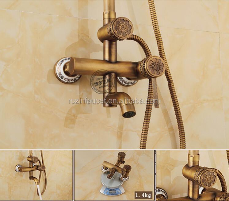 lat n antiguo ajuste altura ducha ba o grifo mezclador