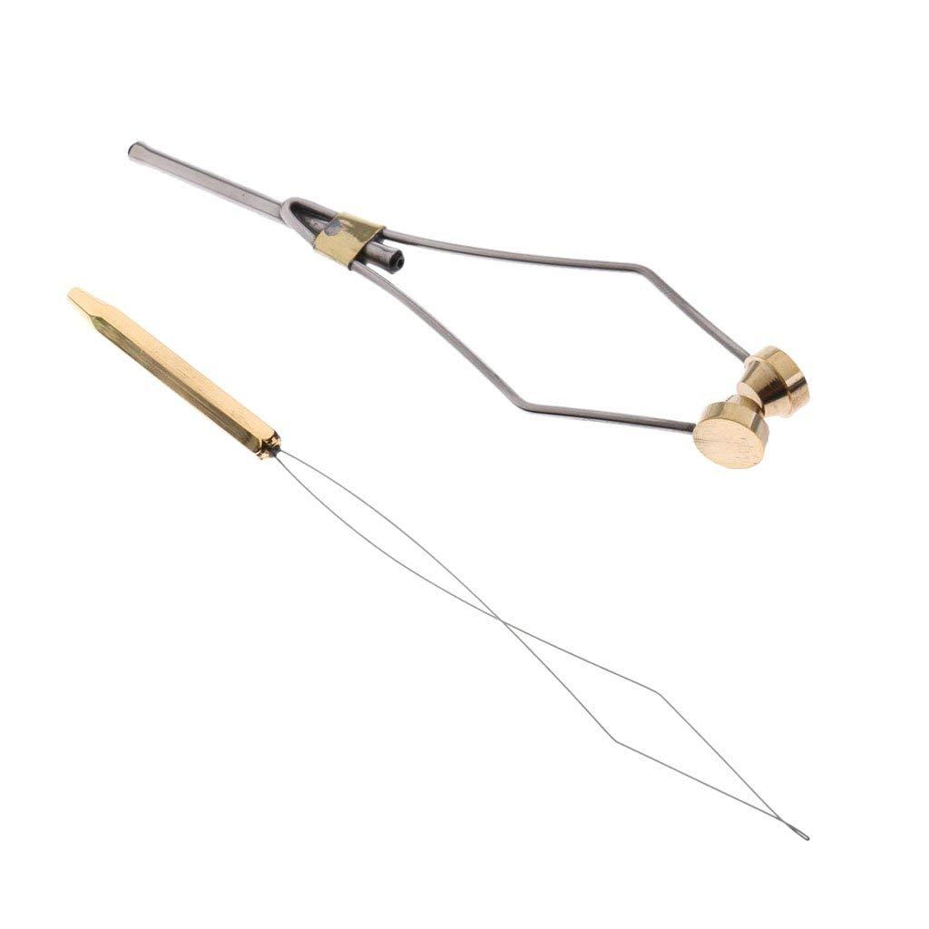2 Stück Fliegenbinden Bobbin Threader Half Hitch Tool Fliegenbinden Tools