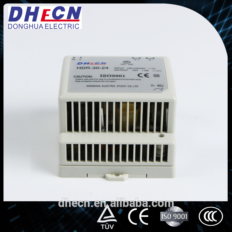 DHECN Good price ac adapter 15v 1500ma switching power supply (HDR-30-24)