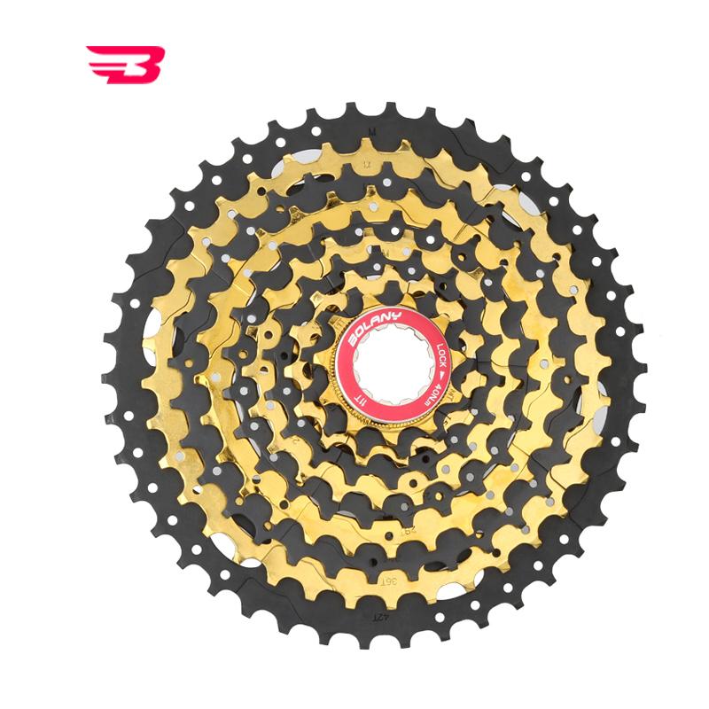 BOLANY Mountain Bike Cassette Freewheel 9//27 Speed 11-46T Bicycle Flywheel