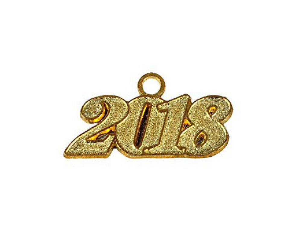 Graduation Cap Tassels with Free Moving Gold Year Charm 9-inch by YesGraduation (2018, Year Charm)