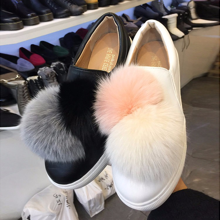 Fluffy Pom Pom For Shoes/Bag Accessory Fox Fur ball