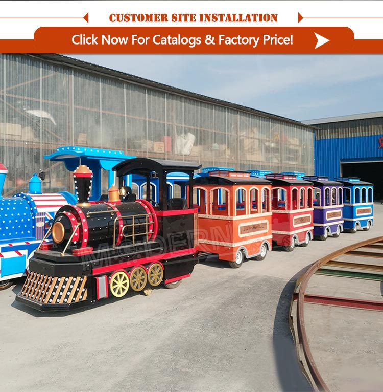 China playground equipment amusement park electric trackless train
