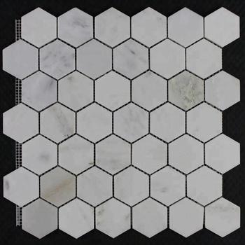 Decorstone24 White Marble Honeycomb Floor Tile 48mm Hexagonal