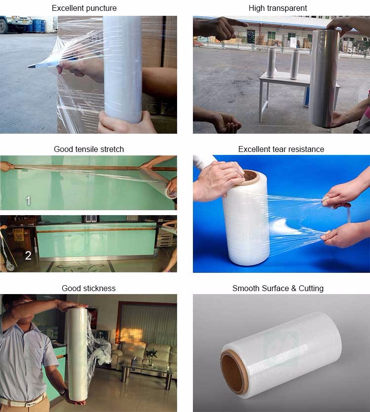 Free sample 23 Micron Black LLDPE Stretch Film Manufacturer China/Stretch Wrapping Film/Linear Low Density Polyethylene