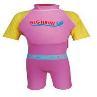 Customized Swimwear Factory High Quality Coloured Polyester Elastane Sun Protection UPF50+ Baby Swimming Float