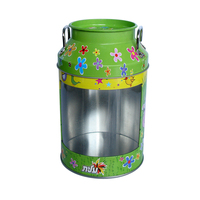 Attractive design cute milk tin can, milk candy packaging tin box, metal tin box food packaging