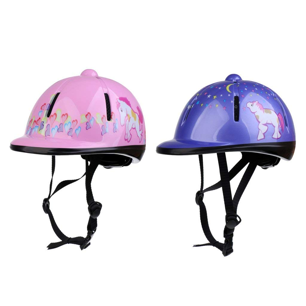 f4faaaff3993c Get Quotations · Baoblaze Set of 2 Adjustable Horse Riding Helmet for Kids  Toddlers, Lightweight Ventilated Equestrian Sports