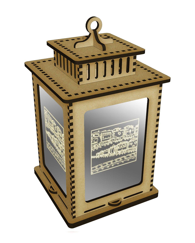 'Train Motif' Mirrored Candle Lantern / Tea Light Holder (LT00010344)