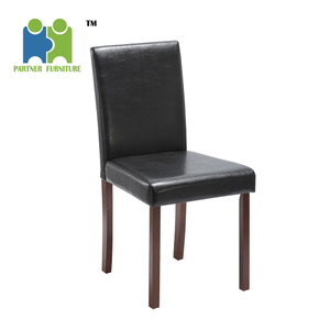 (SUN-H) Hot sale home furniture dining chair pu wood legs cheap leather dining chair