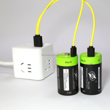 High Quality Super ZNTER SIZE D 1.5V li-polymer battery 4000mah/6000mah/replace dry battery