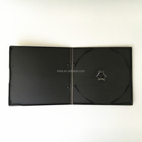 5.2mm Super Slim Single Black Cover Square Short CD VCD DVD PP Case