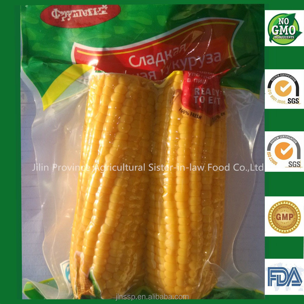 China Non GMO Sweet Corn Cobs for Russians