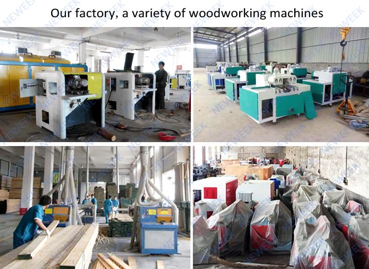 NEWEEK electric wood circular round log multi rip saw machine