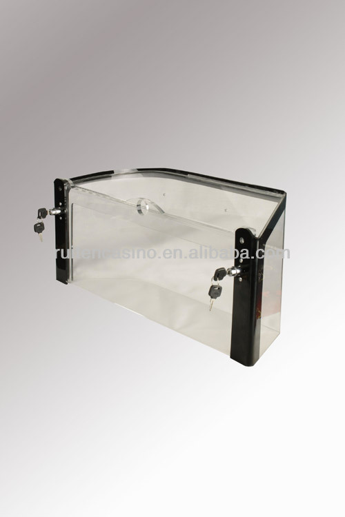 Lockable value chip cover with display rack