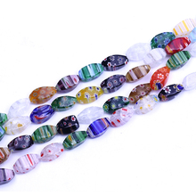 XULIN <span class=keywords><strong>lampwork</strong></span> stone hollow facet twist millefiori <span class=keywords><strong>kralen</strong></span>