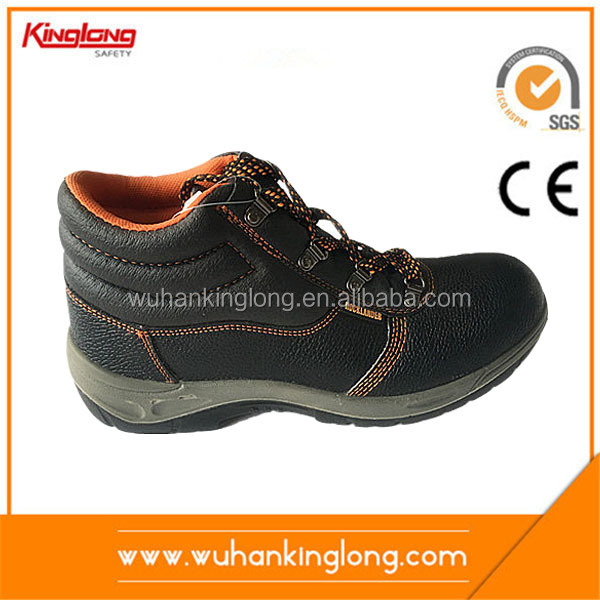 Metal Free Leather Safety Shoes for Men with Composite Toe
