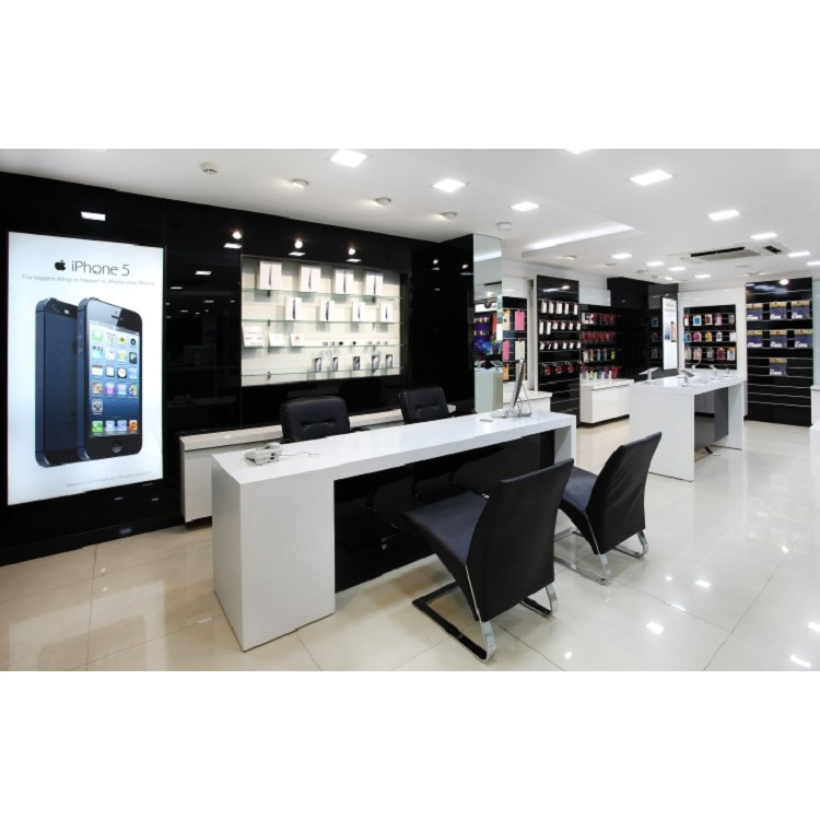 Wood mobile phone accessories display showcase for phone store