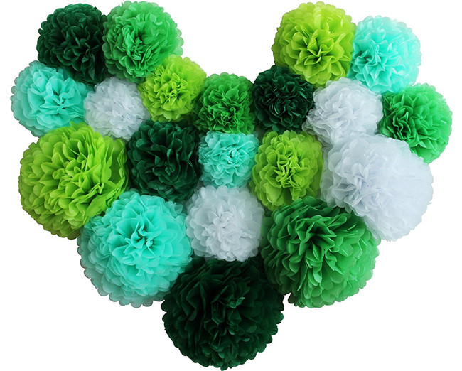 Colorful Large Tissue Paper Flower Set Pom Poms for Wedding Decoration