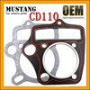 2016 New Style CD110 Motorcycle Cylinder Head Gasket Cylinder Block Gasket