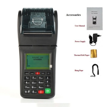 GT6000S Airtime Mobile TopUp POS Machine Handheld Printer supports  GPRS/SMS/USSD/STK for Mobile Virtual Topup, View airtime pos, GOODCOM  Product