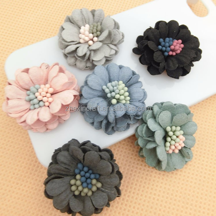 Handmade leather flower Christmas Wedding Decorations Artificial Chrysanthemum