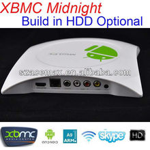 Smart tv box androide rendereil piùintelligente tv! Slave gbox software compatibile, xbmc preinstalled, costruirein opzionale <span class=keywords><strong>hdd</strong></span>, costruitoin wifi