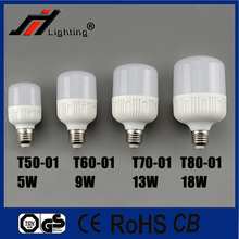 Hot sale plastic with alumium T50 5W T60 9W T70 13W T80 18W High lumen birdcage lamp light