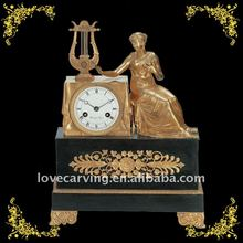 antique desk clock with lady