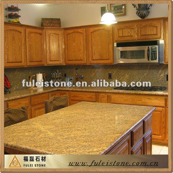 Ouro Brazil Granite Kitchen: Brasil Bancadas Em Granito Ouro-Granito-ID Do Produto