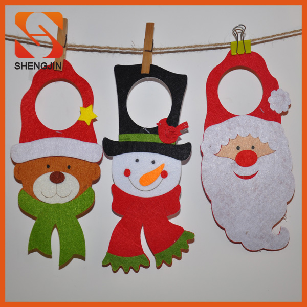 Santa Snowman Bear design Felt christmas decoration ornament