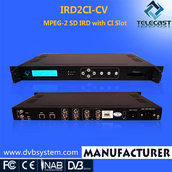 MPEG-2 SD Digital IRD with CI Slot for IRDETO Conax Viaccess