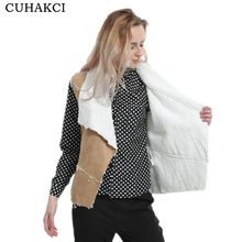 CUHAKCI <span class=keywords><strong>Femmes</strong></span> Veste <span class=keywords><strong>Femmes</strong></span> Manteaux De Fourrure <span class=keywords><strong>Gilet</strong></span> Vestes Femme Hiver Ouvert Tissue <span class=keywords><strong>Polaire</strong></span> Thermique Vêtements