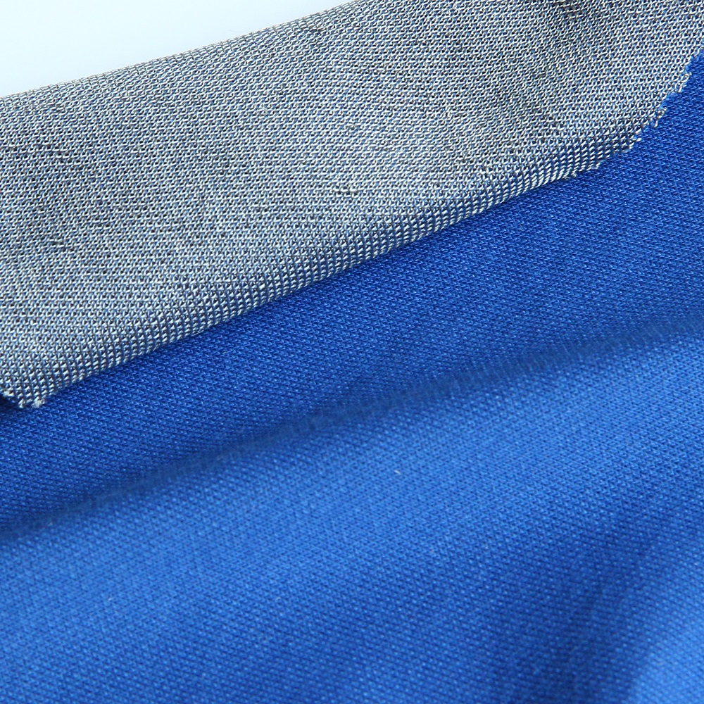 EMF Shielding fabric with 42% coated silver fib for top tank, underwear and hoodie, breathable and h